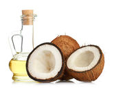 Coconut and oil — Stock Photo