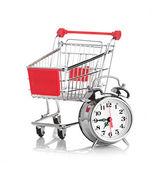 покупая время концепция с часами — Стоковое фото