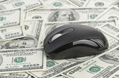 US Dollars and Computer Mouse — Stock Photo