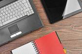 Forniture ufficio e portatile — Foto Stock