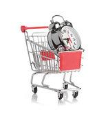 购买时间概念与时钟 — 图库照片