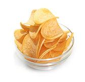 Delicious potato chips in bowl — Stock Photo