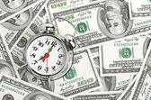 Tempo - dinheiro. — Foto Stock