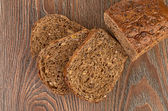 Slices of brown bread — Stock Photo