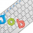 Word job on keyboard — Stock Photo