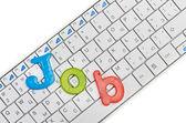 Word job on keyboard — Stock Photo