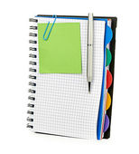 Notebook and pen isolated — Stock Photo