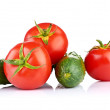 Ripe vegetables isolated on white background — Stock Photo