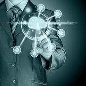 Cloud-computing-touchscreen-interface — Stockfoto