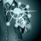 Cloud computing touchscreeninterface — Stockfoto