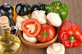 свежие овощи и грибы — Стоковое фото