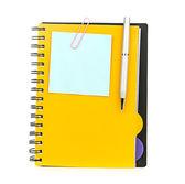 Cuaderno y pluma — Foto de Stock