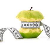 Blanco de apple y cinta métrica — Foto de Stock