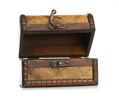 Open wooden chest — Stock Photo