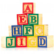 Cubes alphabet — Stock Photo