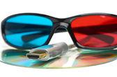 Hdmi и 3d очки — Стоковое фото