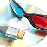 HDMI e 3d óculos — Foto Stock