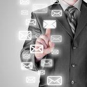 Biznesmen koncepcja e-mail — Zdjęcie stockowe