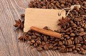 Kaffee und blank — Stockfoto