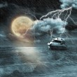 Boat in storm  — Stock Photo