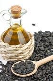 Aceite y semillas de girasol — Foto de Stock