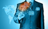 Pushing 4g — Stock Photo