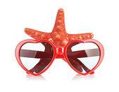 Sea star und sungasses — Stockfoto
