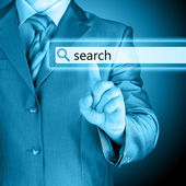Pushing virtual search bar — Stock Photo