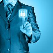 Virtual security button — Stock fotografie