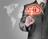Secure online cloud — Stock Photo