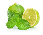 Limes and mint — Stock Photo