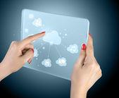 Touchscreen-interface — Stockfoto
