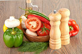 Vegetables and mushrooms — Stock Photo