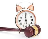 Ordförandeklubba och gamla klocka — Stockfoto
