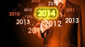Touching new year 2014 — Stock Photo