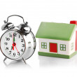 Stock Photo: House and clock