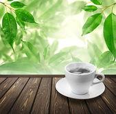 Café no chão — Foto Stock
