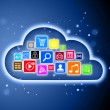 Stock Photo: Cloud computing concept for business presentations