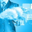 Stock Photo: Cloud computing, technology connectivity concept