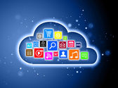 Cloud computing concept for business presentations — Stockfoto