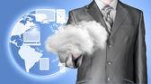 Cloud computing, technology connectivity concept — Foto de Stock