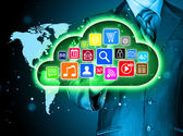 Green cloud computing — Stock Photo