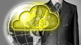Yellow cloud computing — Stock Photo