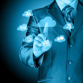 Blue cloud computing — Stock Photo