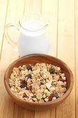 Healthy cereal in bowl — Stock Photo