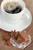 Coffee with chocolate — Stock fotografie