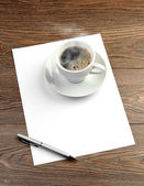 White coffee cup — Stock Photo