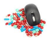 マウスや錠剤 — ストック写真