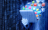 Business man use tablet pc — Foto de Stock