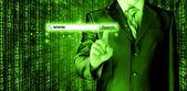 Green virtual search bar — Stock Photo